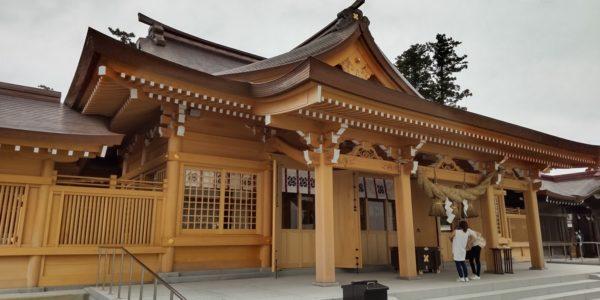 阿蘇神社の拝殿完成♪